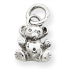 14k white gold teddy bears charms