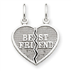 14k white gold best friends charms